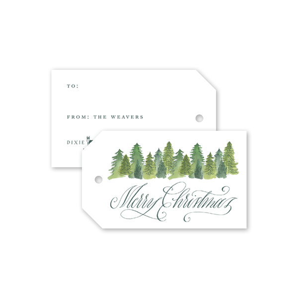 Alpine Holiday Christmas Gift Tags