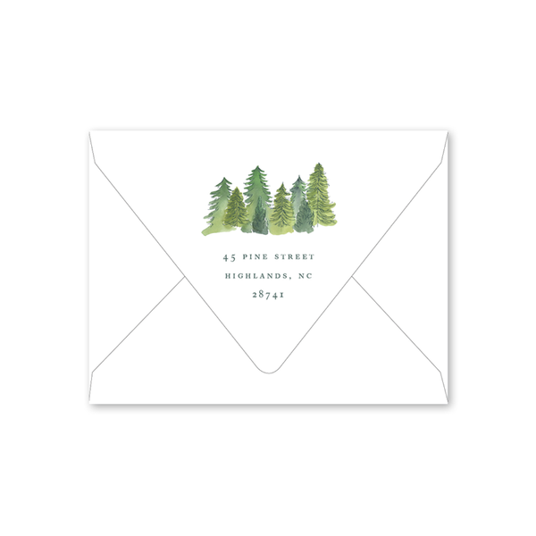 Alpine Holiday Folded Envelopes