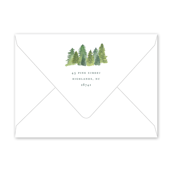 Alpine Holiday Forest Envelopes
