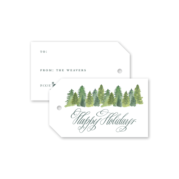 Alpine Holiday Gift Tags