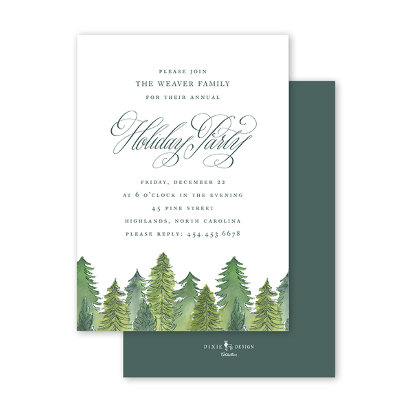 Alpine Holiday Invitation