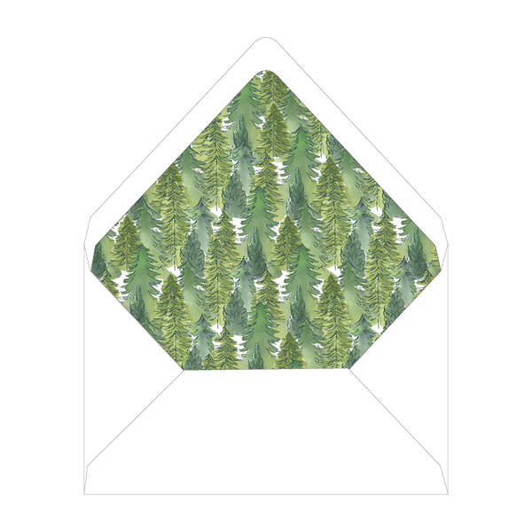 Alpine Holiday Invitation Liner