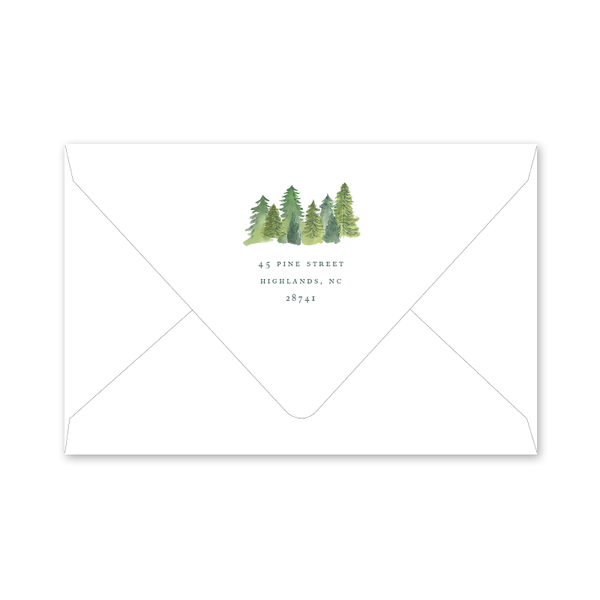 Alpine Holiday Photo Mount Envelopes