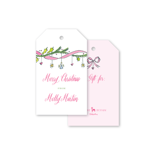 Angel Garland Pink Gift Tags