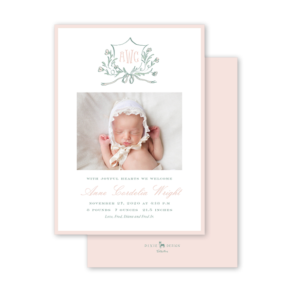 Avonlea Rose Birth Announcement