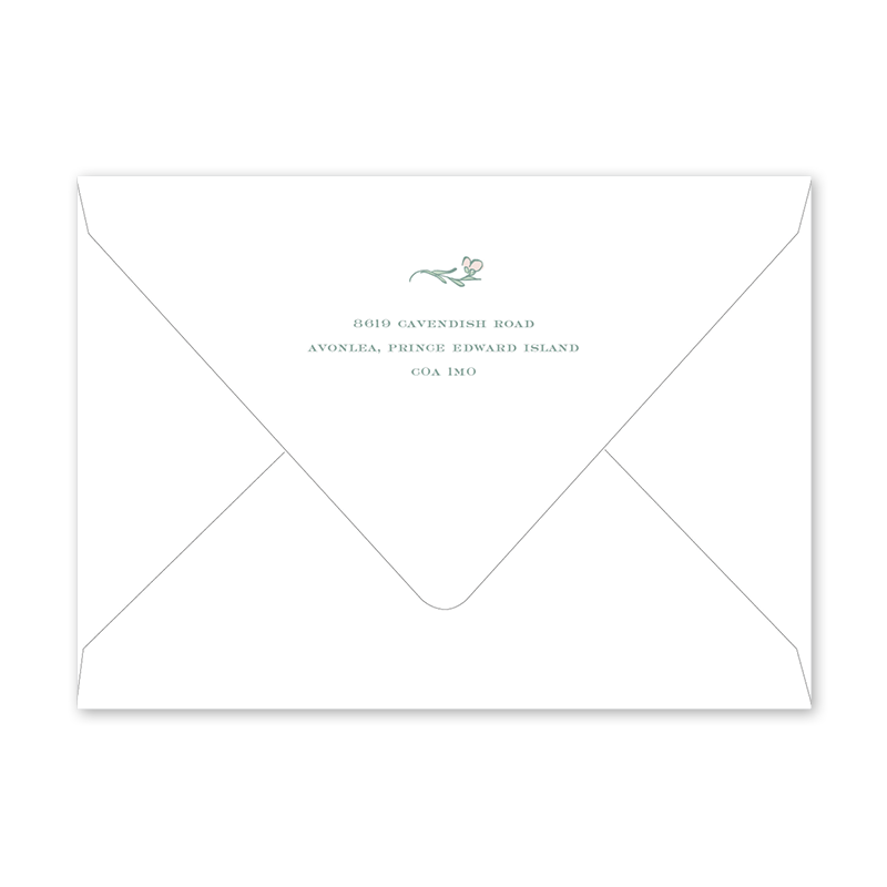 Avonlea Rose Birth Announcement Envelopes