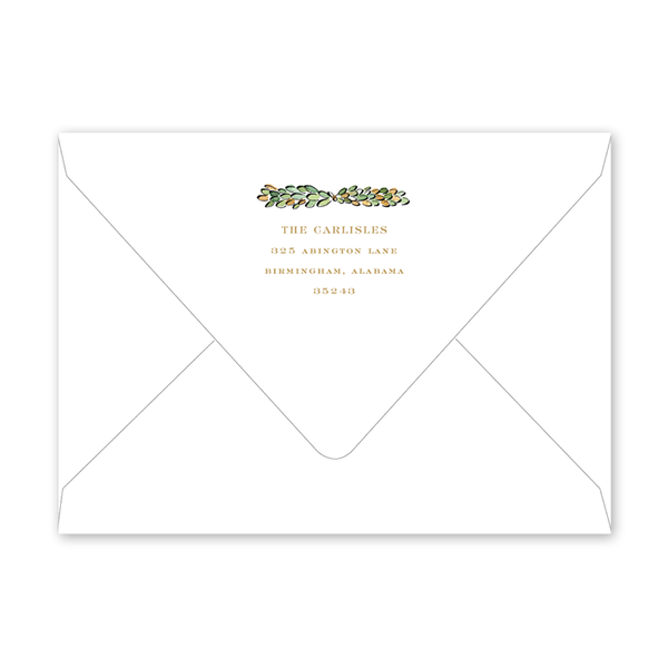 Christmas Magnolia Border Holiday Envelopes