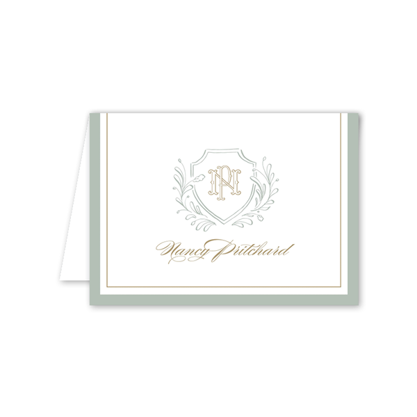 Country Club Crest Folded Notecard