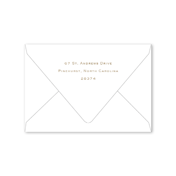 Country Club Crest Folded Notecard Envelopes