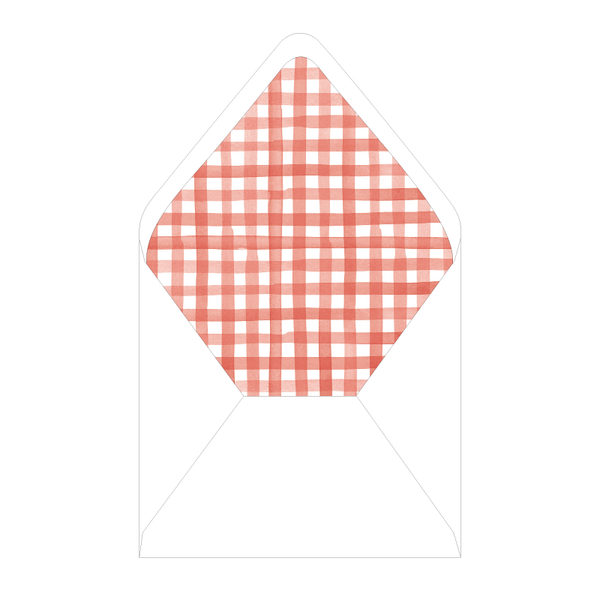 Gingham BBQ Couples Shower Liner