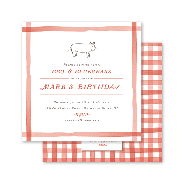 Gingham BBQ Birthday