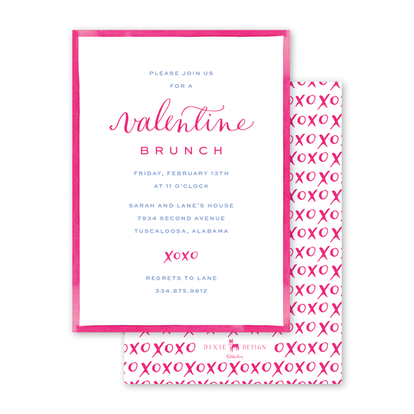 Hugs and Kisses Invitation