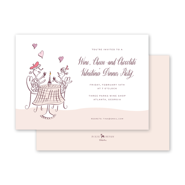 Poodle Valentine Invitation