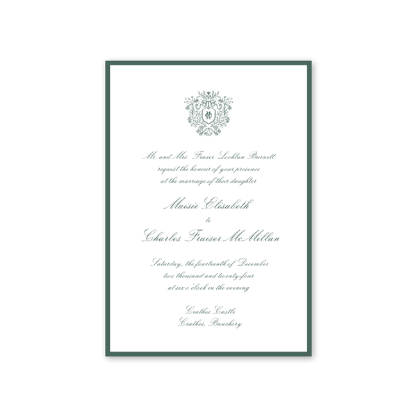 Burnett Wedding Invitation