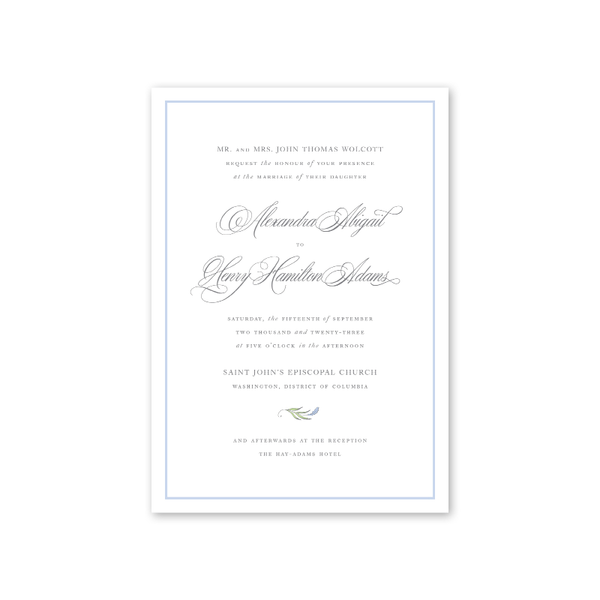 Alexandra Wedding Invitation