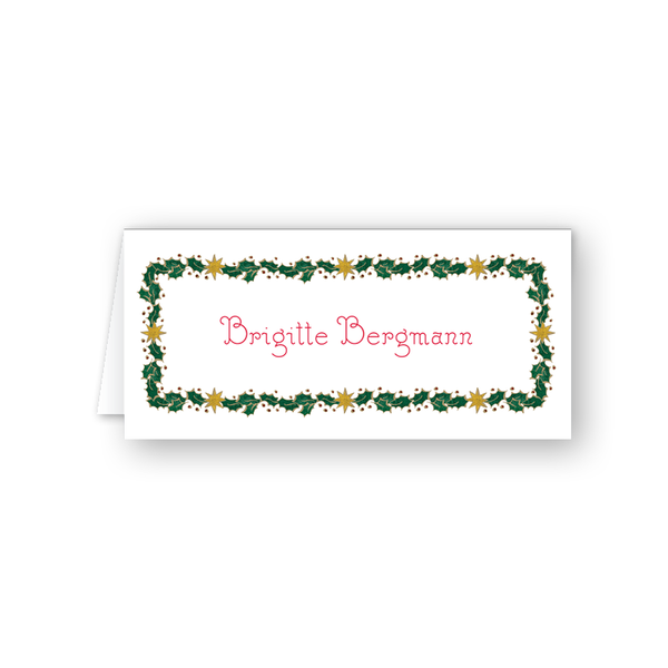 Alpine Angel Border Place Card