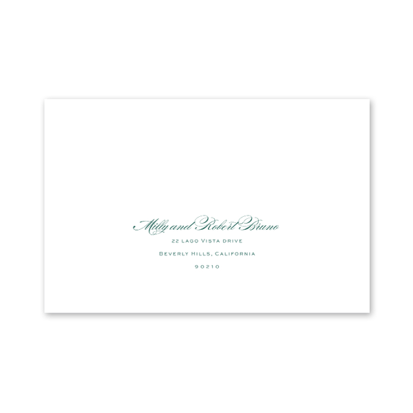 Beverly Hills Christmas Photo Mount Green Recipient Address Printing