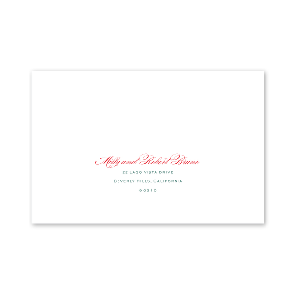 Beverly Hills Christmas Photo Mount Recipient Address Printing