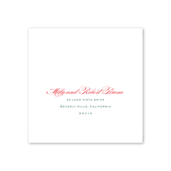 Beverly Hills Square Invitation Recipient Address Printing