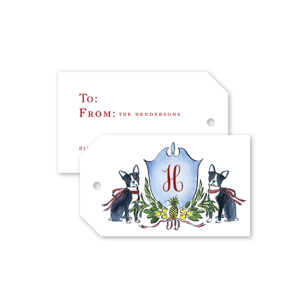 Boston Crest Gift Tags