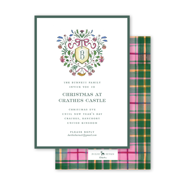 Burnett Christmas Crest Invitation