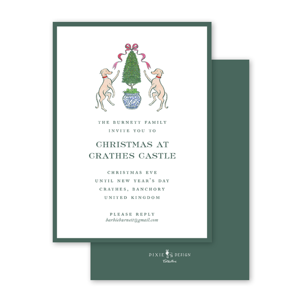 Burnett Christmas Invitation