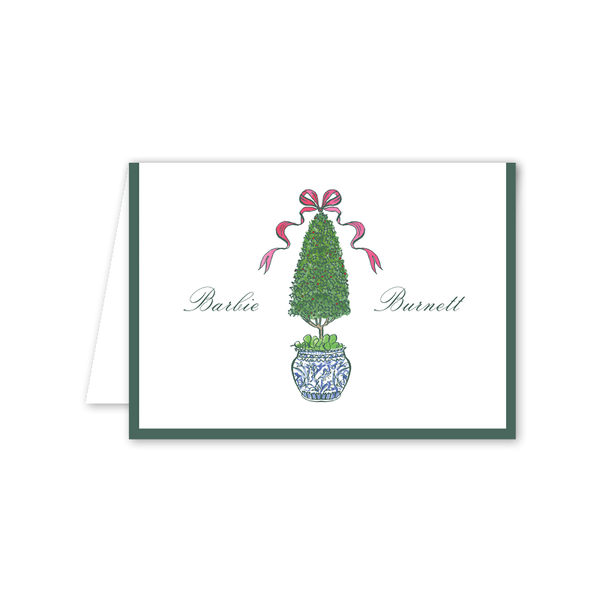 Burnett Topiary Folded Notecard