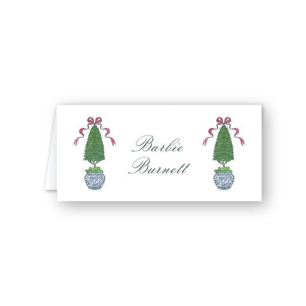 Burnett Christmas Topiary Place Card