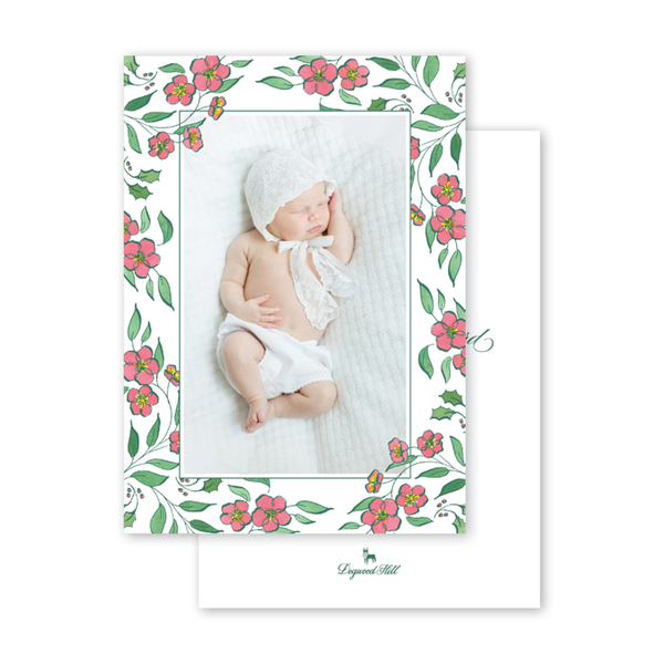 Christmas Camellia Birth Announcement