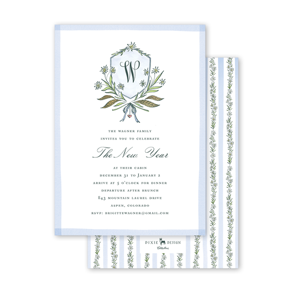 Edelweiss Crest Invitation