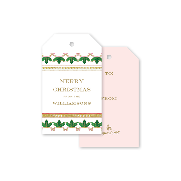 Famille Rose Medallion Trim Gift Tags
