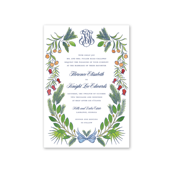 Georgia Wedding Invitation