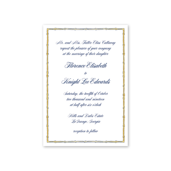 Georgia Bamboo Wedding Invitation