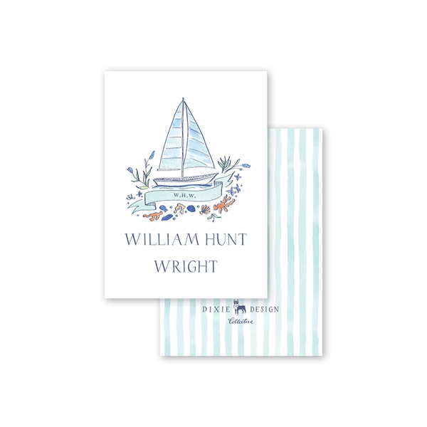 Newport Watercolor Calling Card