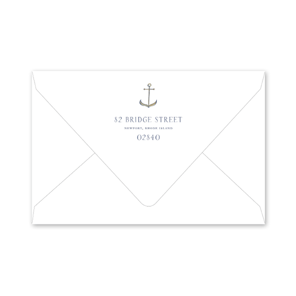 Newport Watercolor Dinner/Party Envelopes