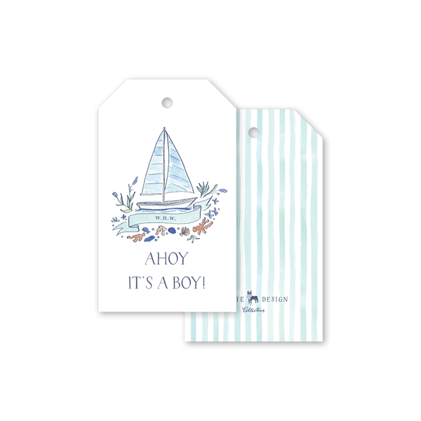 Newport Watercolor Gift Tags