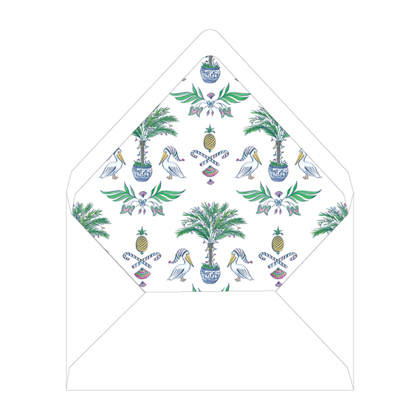 Pelican Bay Holiday Invitation Liner
