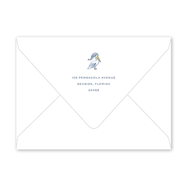 Pelican Bay Holiday Invitation Envelopes