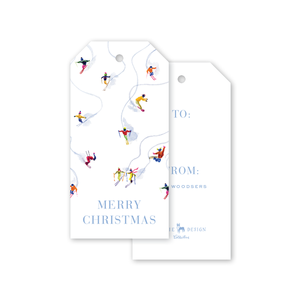 Alpine Ski Snow Gift Tags