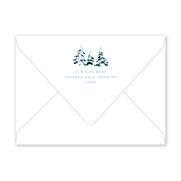 Alpine Ski Snow Invitation Envelopes