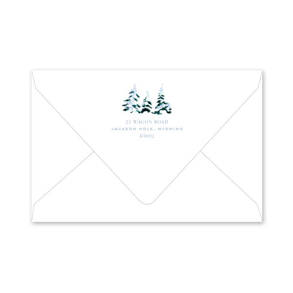 Alpine Ski Snow Landscape Envelopes