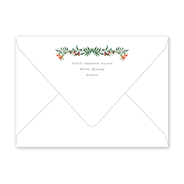 Antler Border Invitation Envelopes