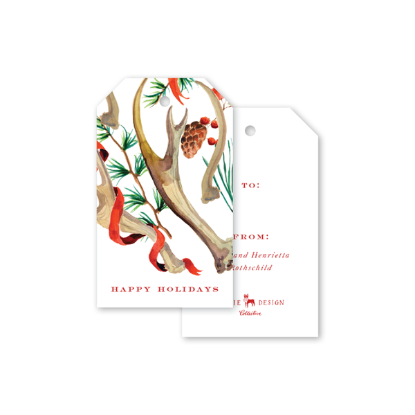 Antler Holiday Gift Tags