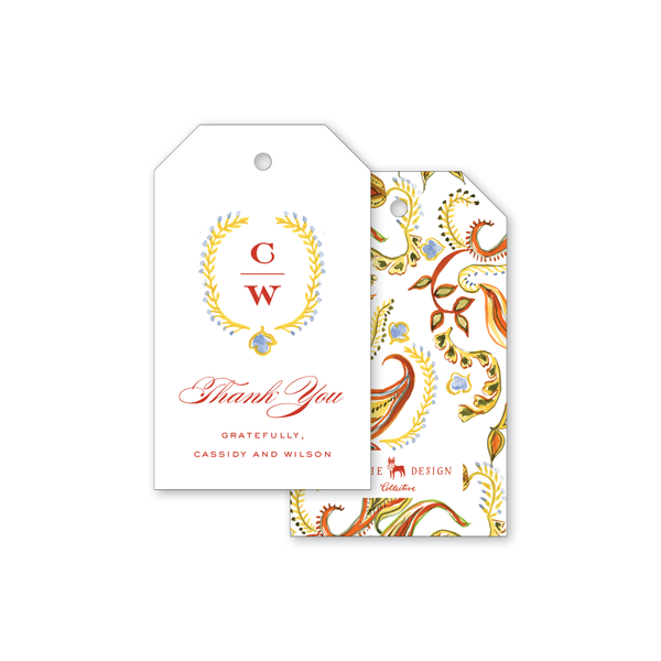 Autumn Paisley Gift Tags