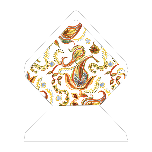 Autumn Paisley Invitation Liner