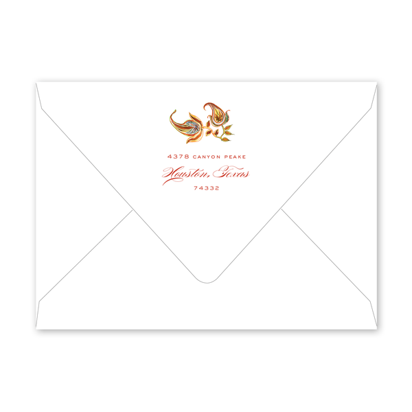 Autumn Paisley Invitation Envelopes