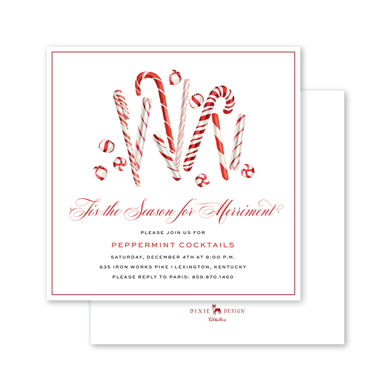 Candy Canes Invitation