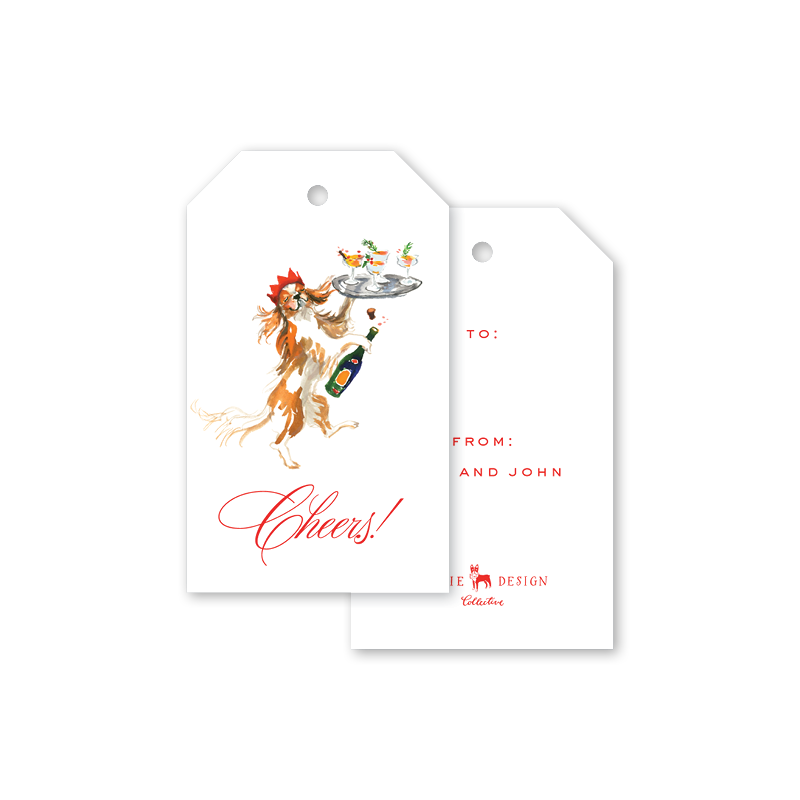 Champagne Dog Gift Tags