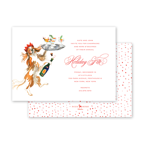 Champagne Dog Invitation