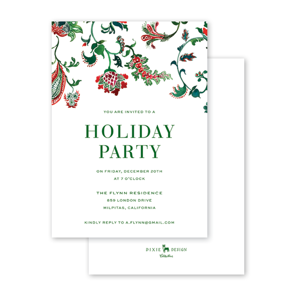 Christmas Chintz Invitation